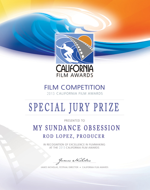 Cali film award my Sundance